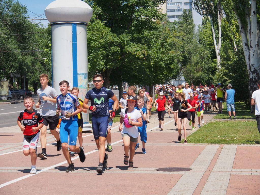 24 июня, Олимпийский день бега. Донецк
