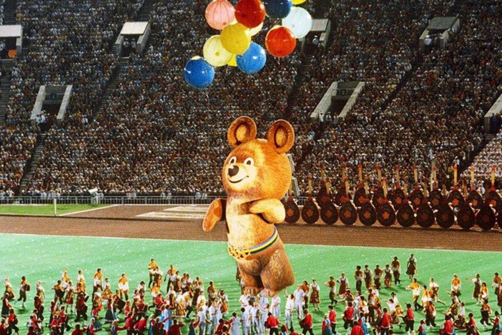 3 августа 1980 года — закрытии XXII Олимпийских игр в Москве