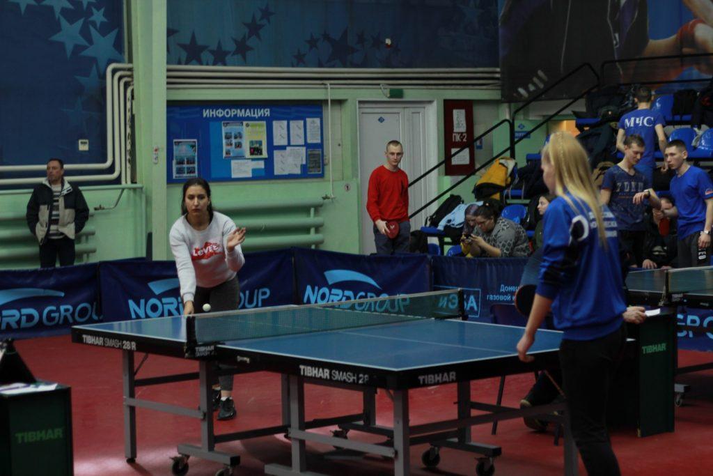 17-19 февраля — Соревнования по настольному теннису среди студентов — СК «Норд»