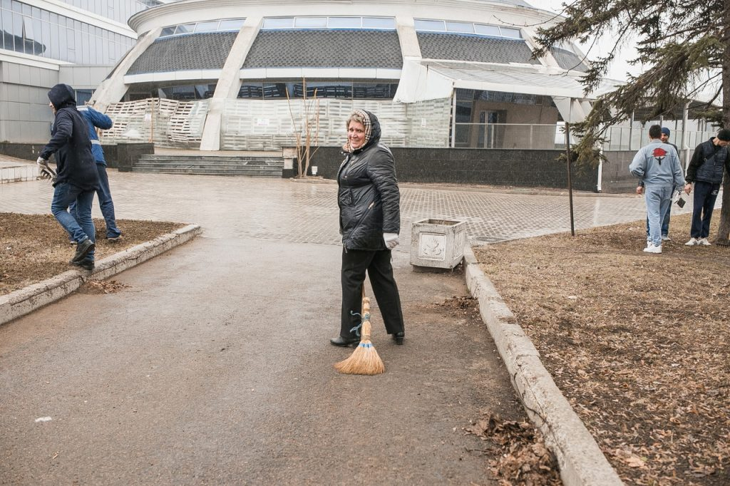 3 апреля — Общереспубликанский субботник на РСК «Олимпийский»: активно, весело, результативно!