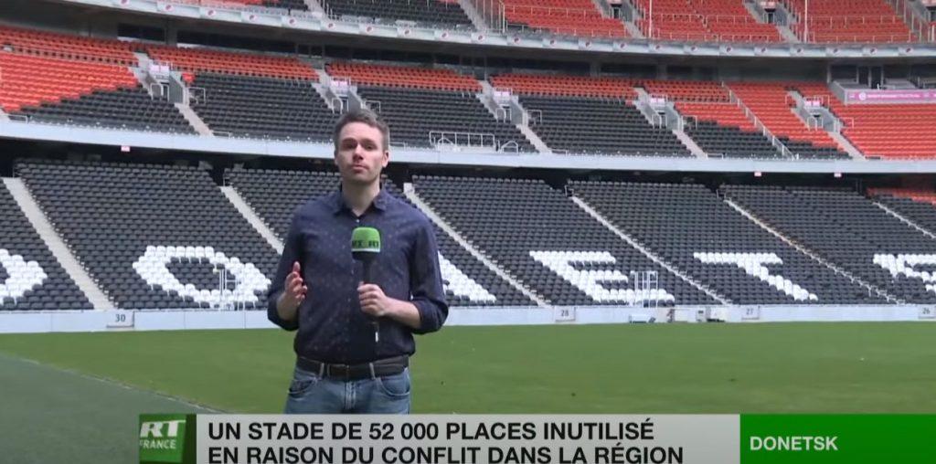 Сюжет RT France о «Донбасс Арене»